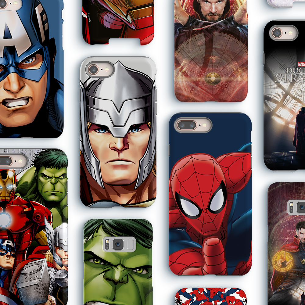 Marvel smartphone cases at Comic Con